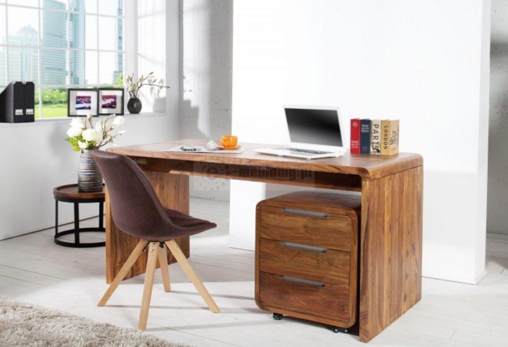 biuro- drewniane stylowe biurko