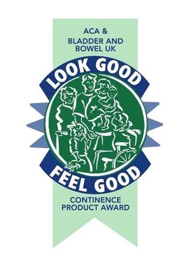 antybąkowa bielizna została nagrodzona prestiżową nagrodą Look Good Feel Good Award, przyznawaną przez Association for Continence Advice