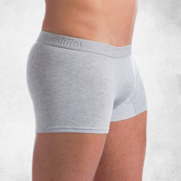 antybąkowe szorty męskie szare widok z boku
